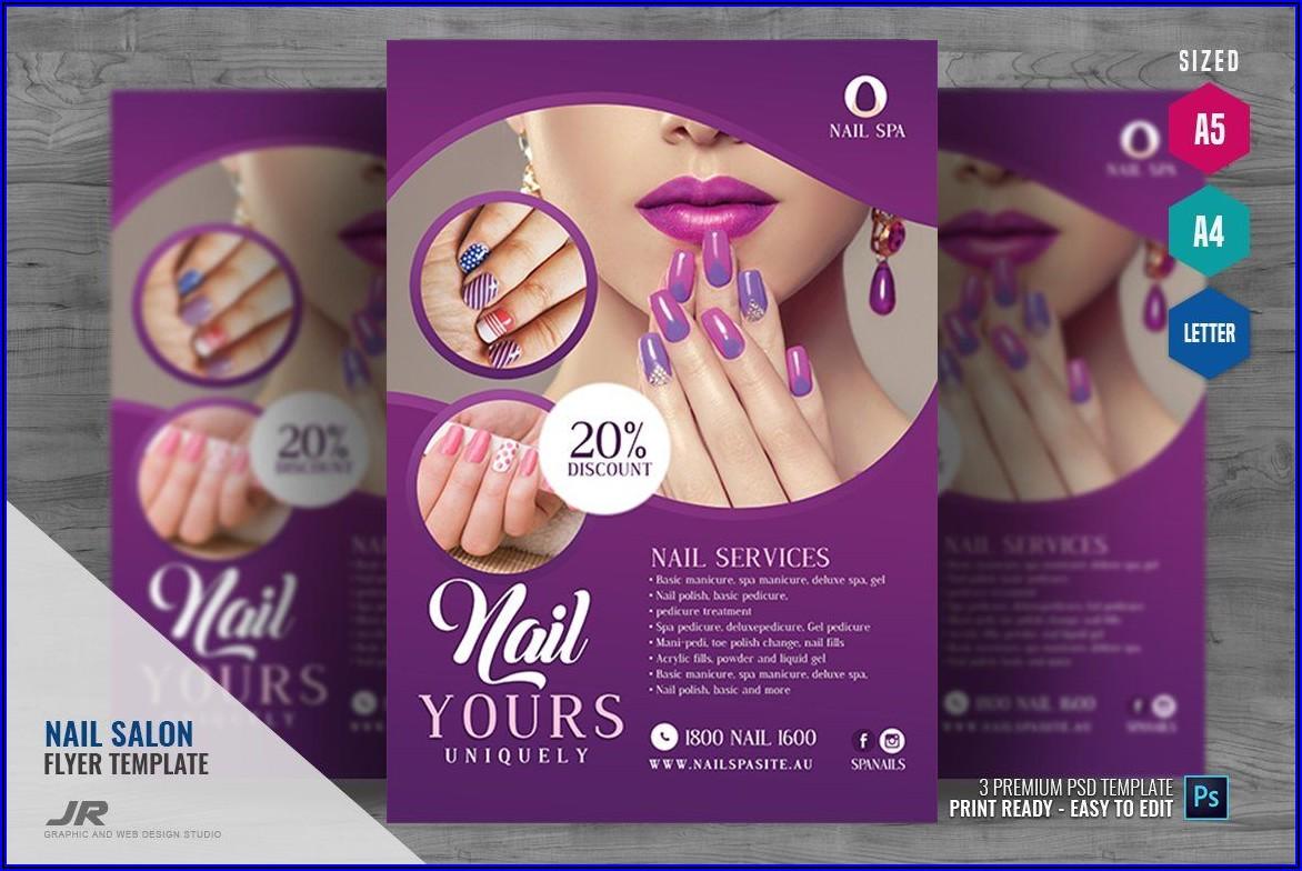 Nail Salon Flyer Templates Psd