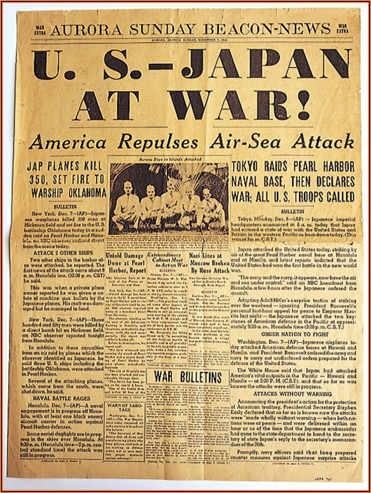 National Geographic Pearl Harbor Timeline