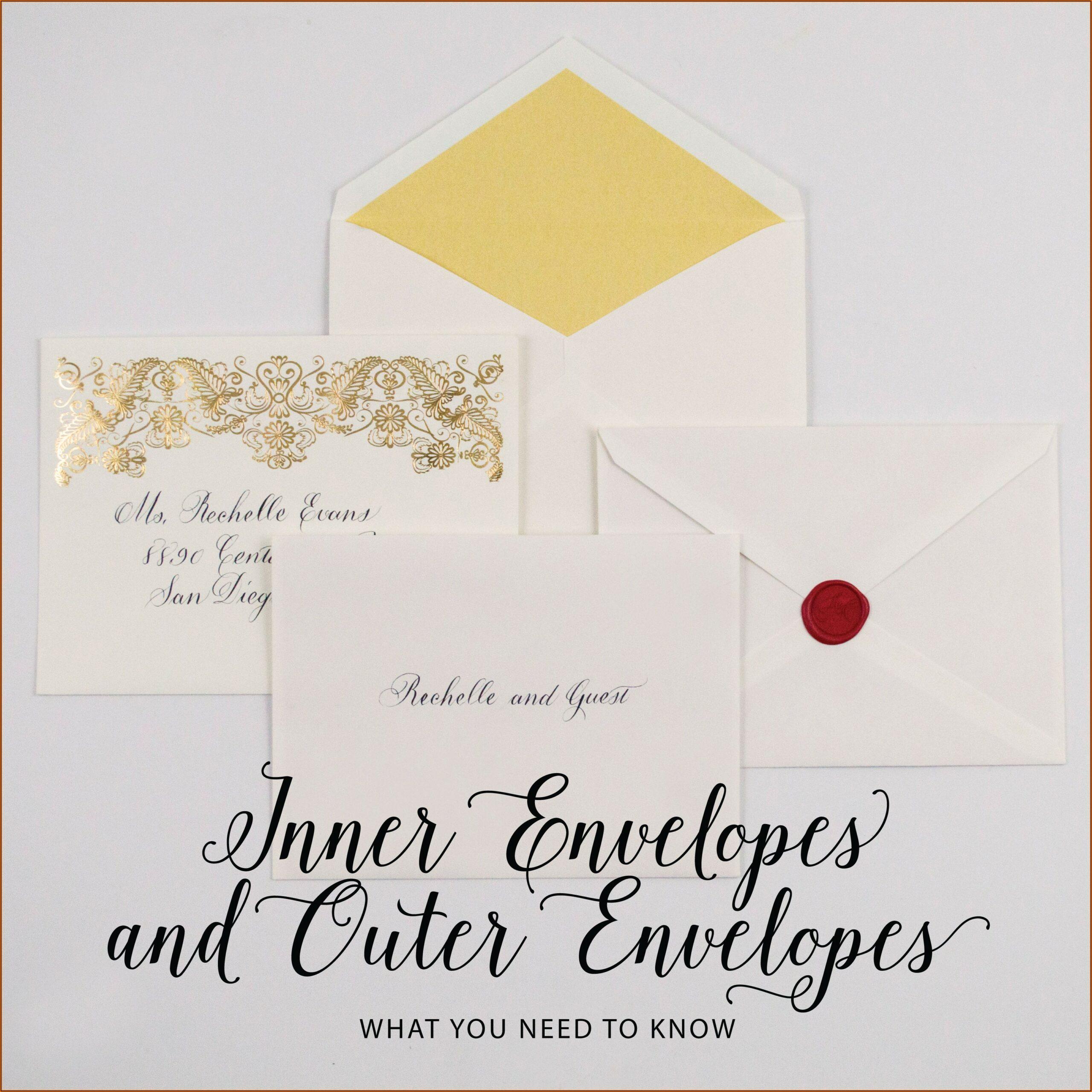 No Inner Envelope Wedding Invitation Etiquette