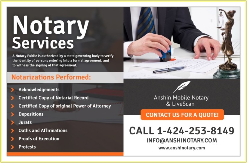 Notary Business Card Examples