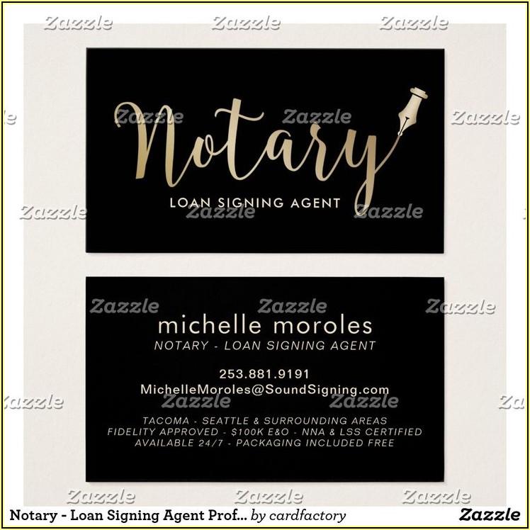 Notary Public Business Card Ideas