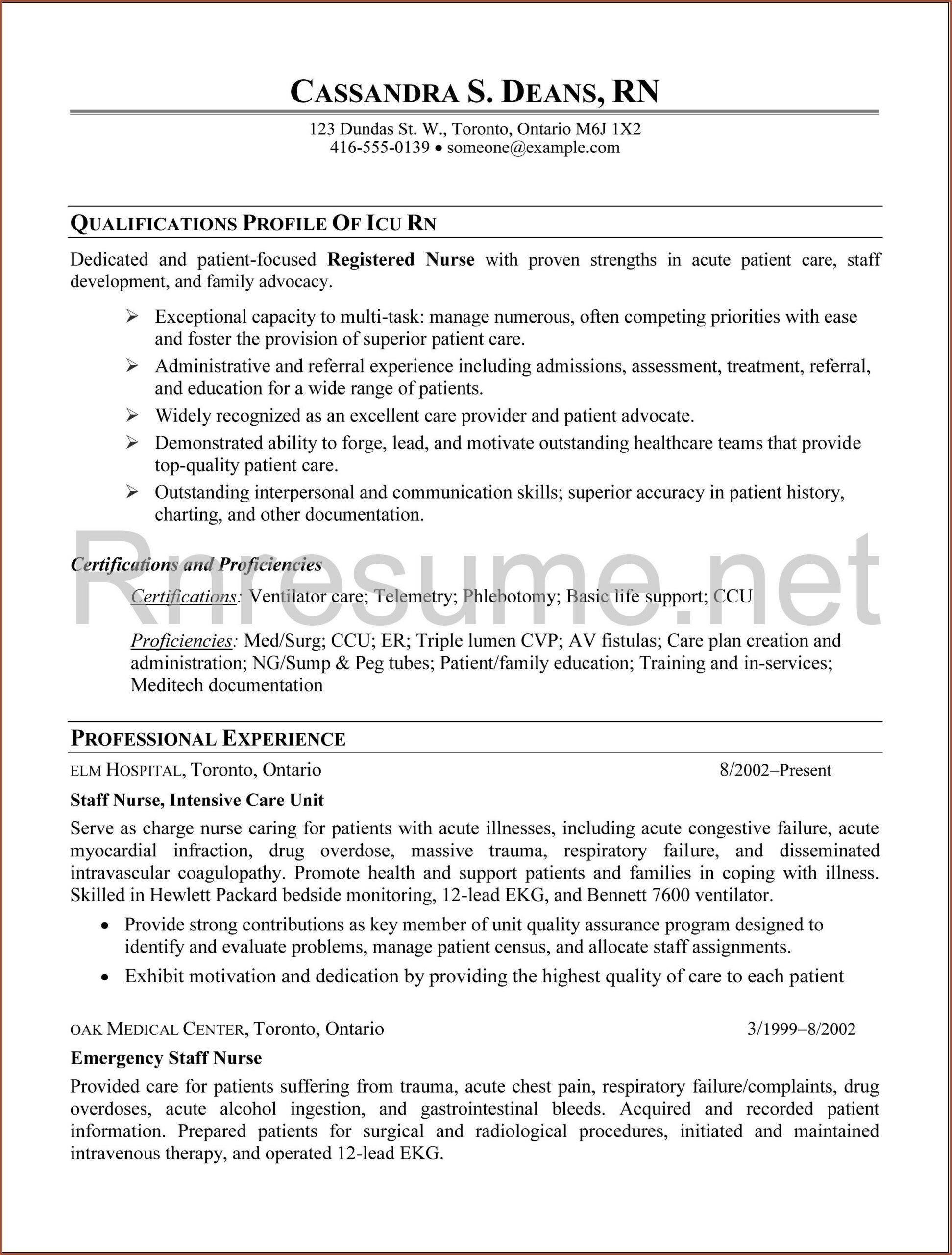 Nursing Resume Writing Services Perth