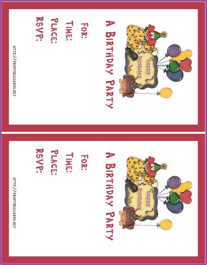 Online Birthday Invitation Card Maker Free