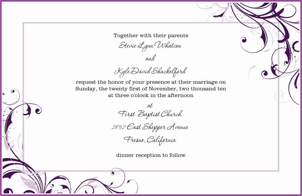 Online Wedding Invitation Templates Pdf