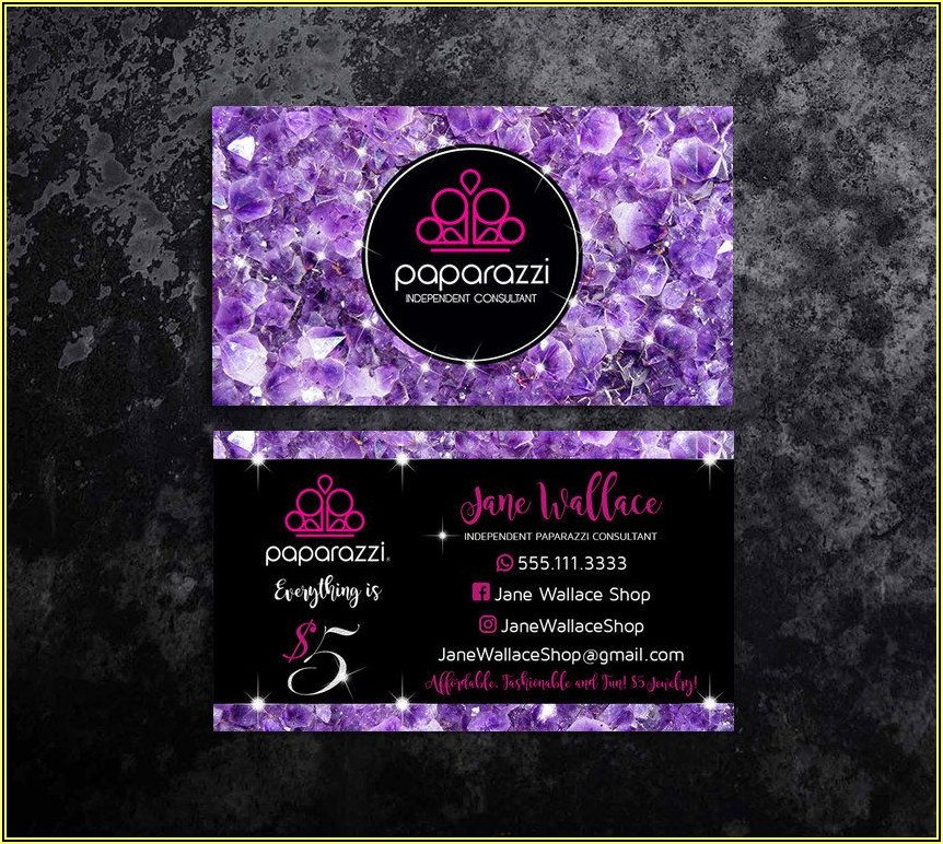 Paparazzi Business Card Designs