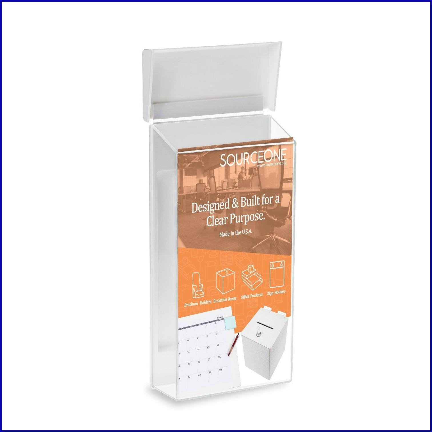 Peel And Stick Brochure Holder