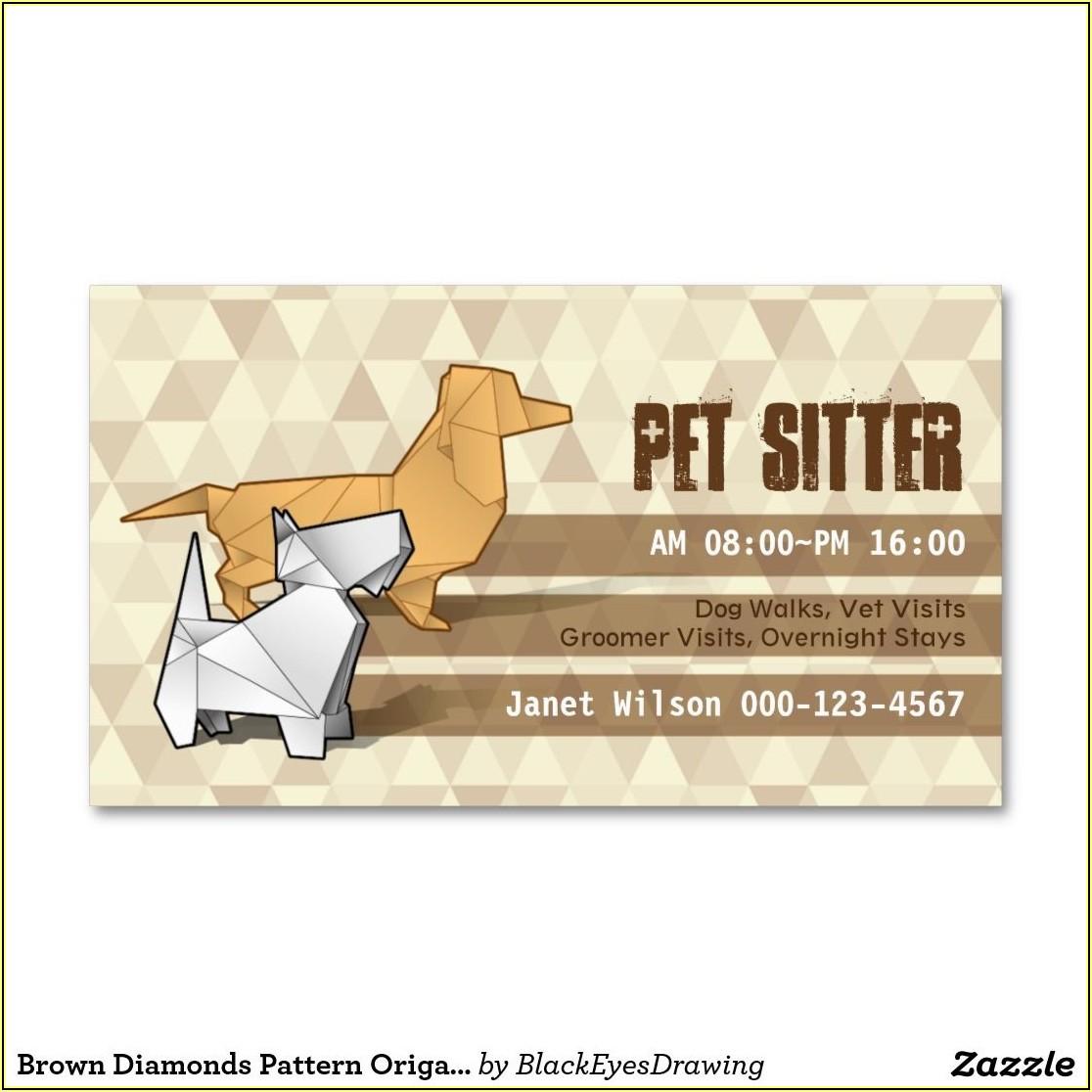 Pet Sitting Business Card Templates