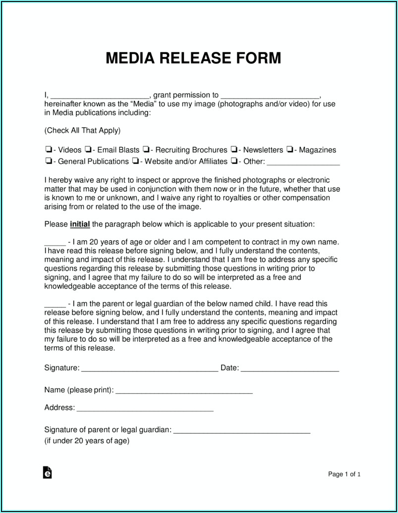 Photography Release Form Pdf