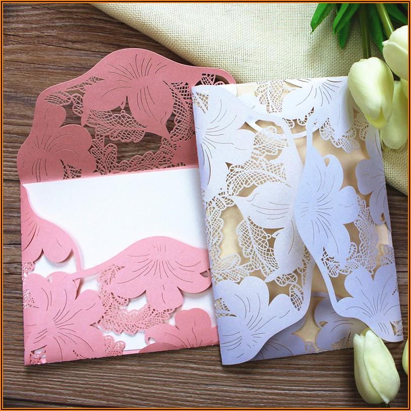 Pocket Fold Wedding Invitation Envelopes