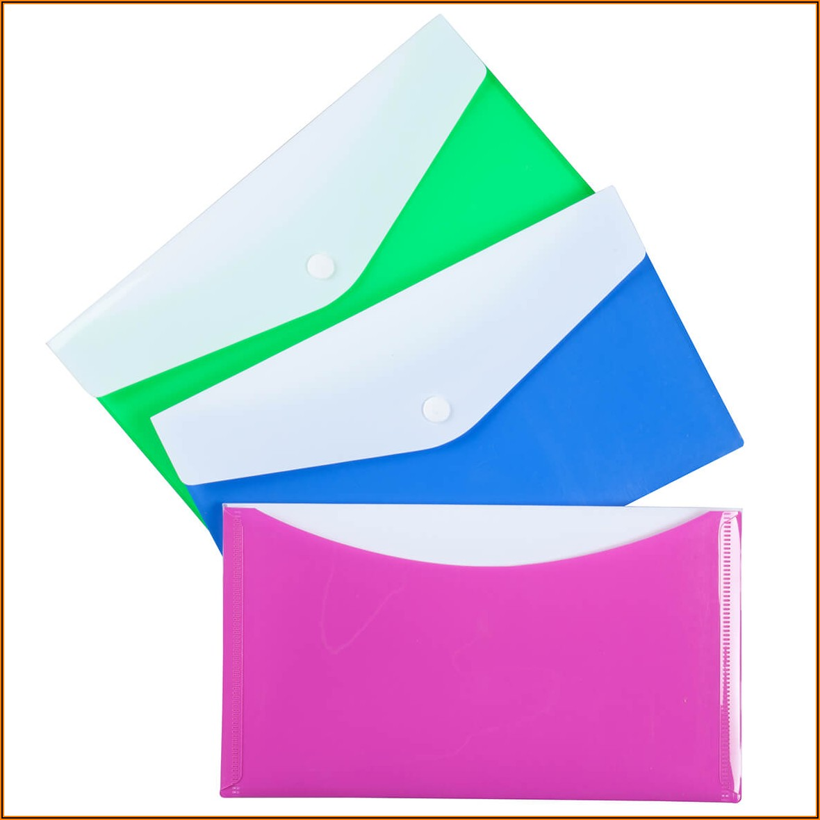 Poly Envelopes With Snap Closure