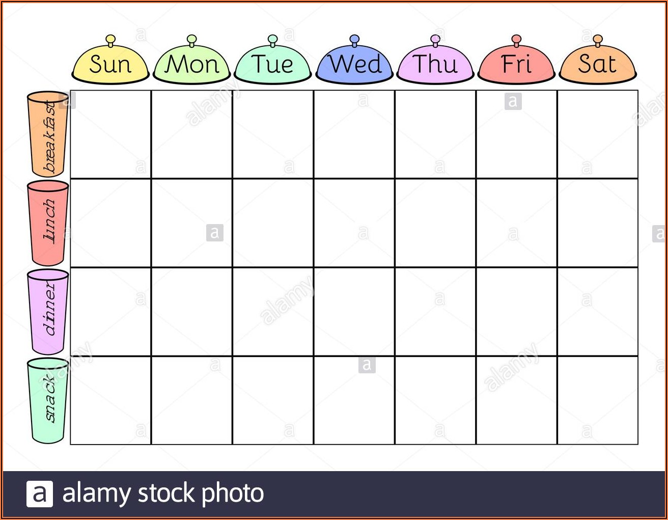 Printable Blank Schedule Template
