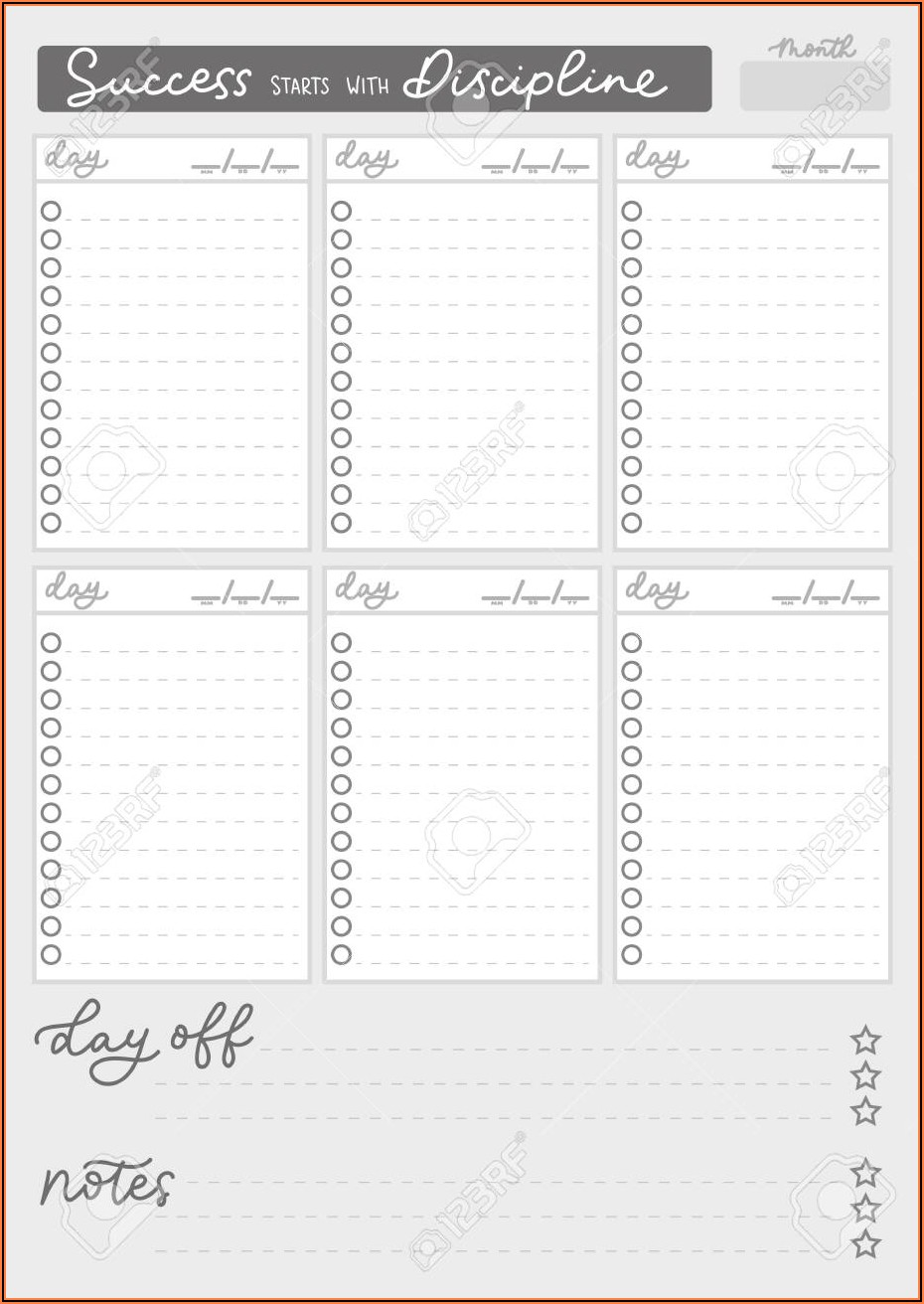 Printable Blank Timetable Template