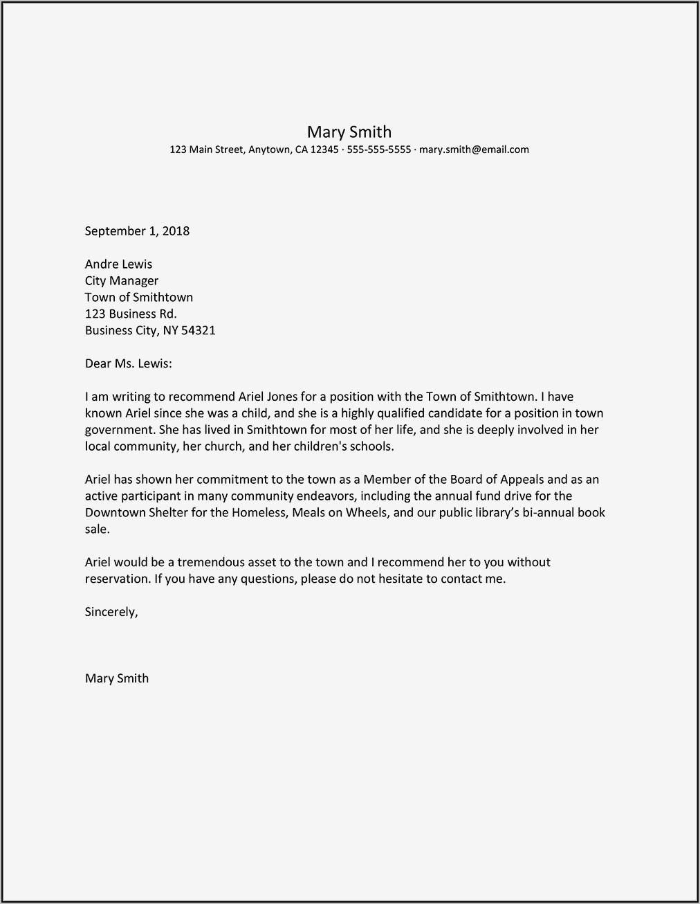 Professional Sample Letter Of Recommendation For Coworker