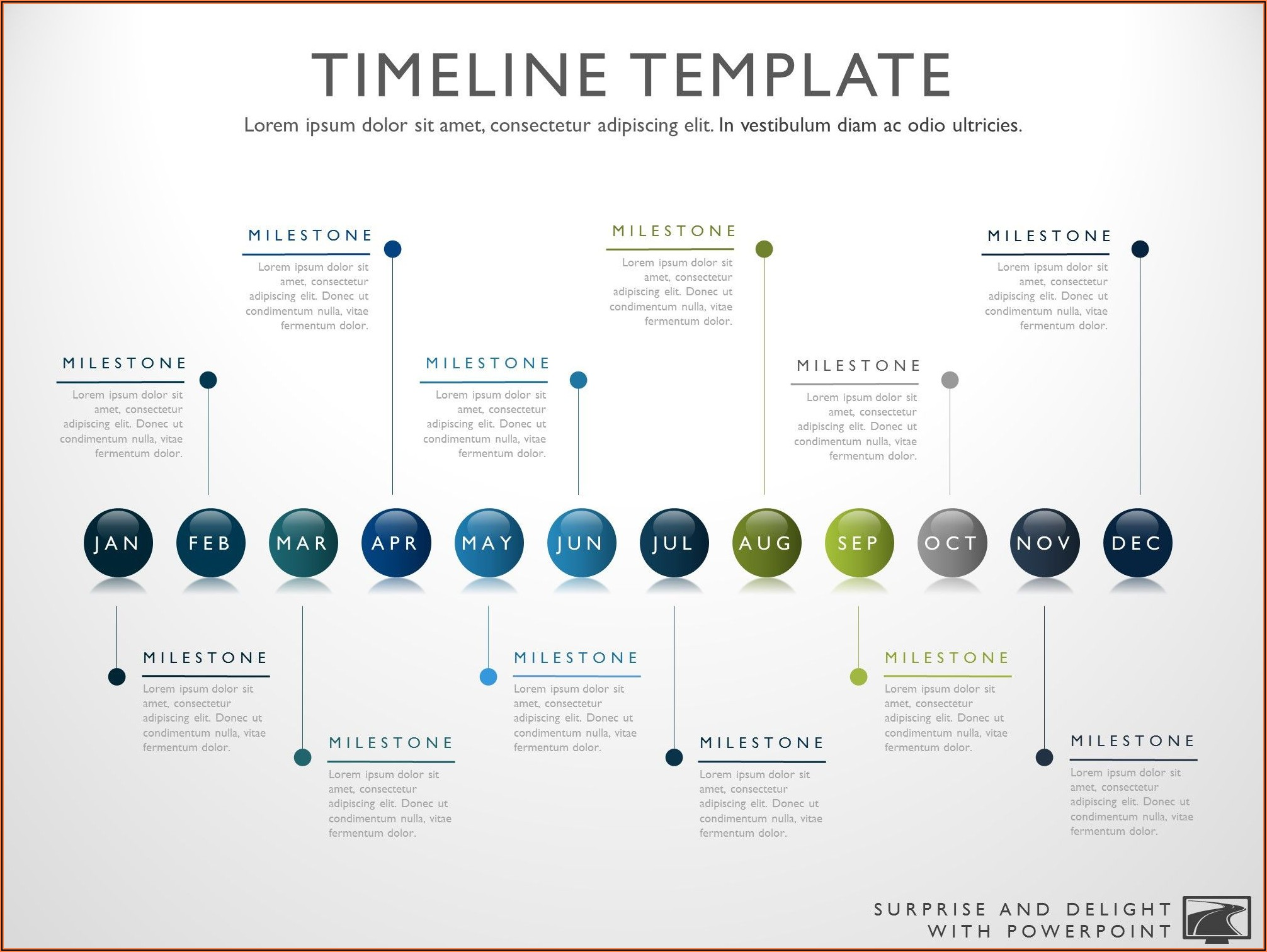 Project Timeline Powerpoint Template Free