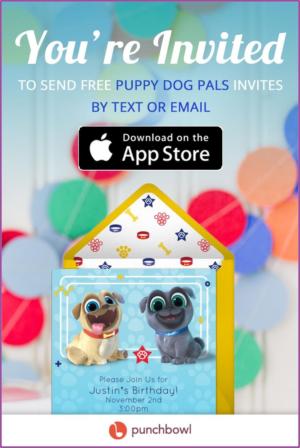 Puppy Dog Pals Invitations Online