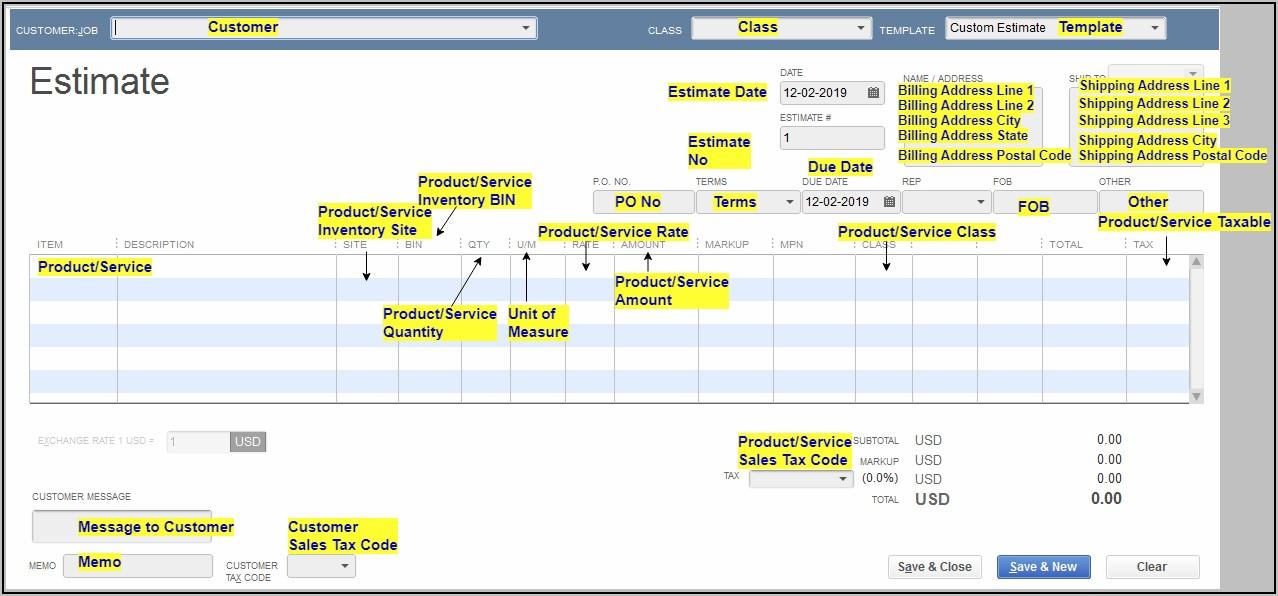 Quickbooks Estimate Vs Invoice
