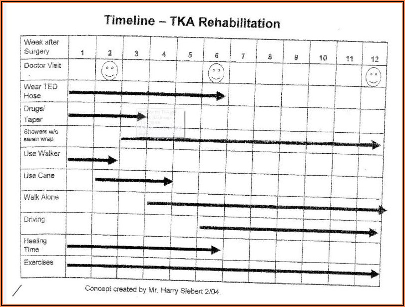 Recovery Timeline From Total Knee Replacement