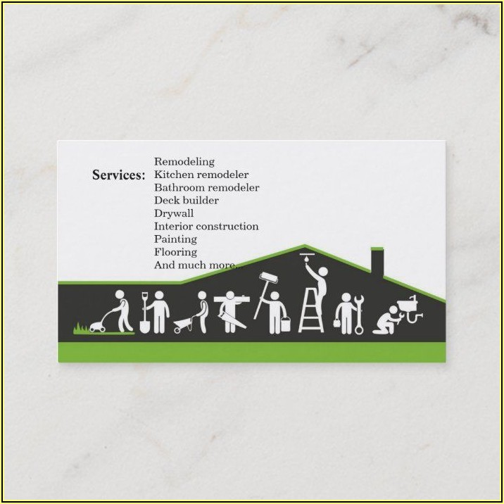 Remodeling Business Cards Ideas