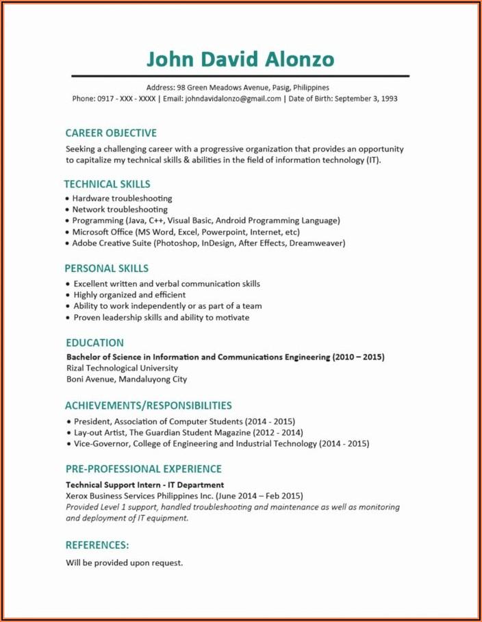 20 Warehouse Job Description For Resume