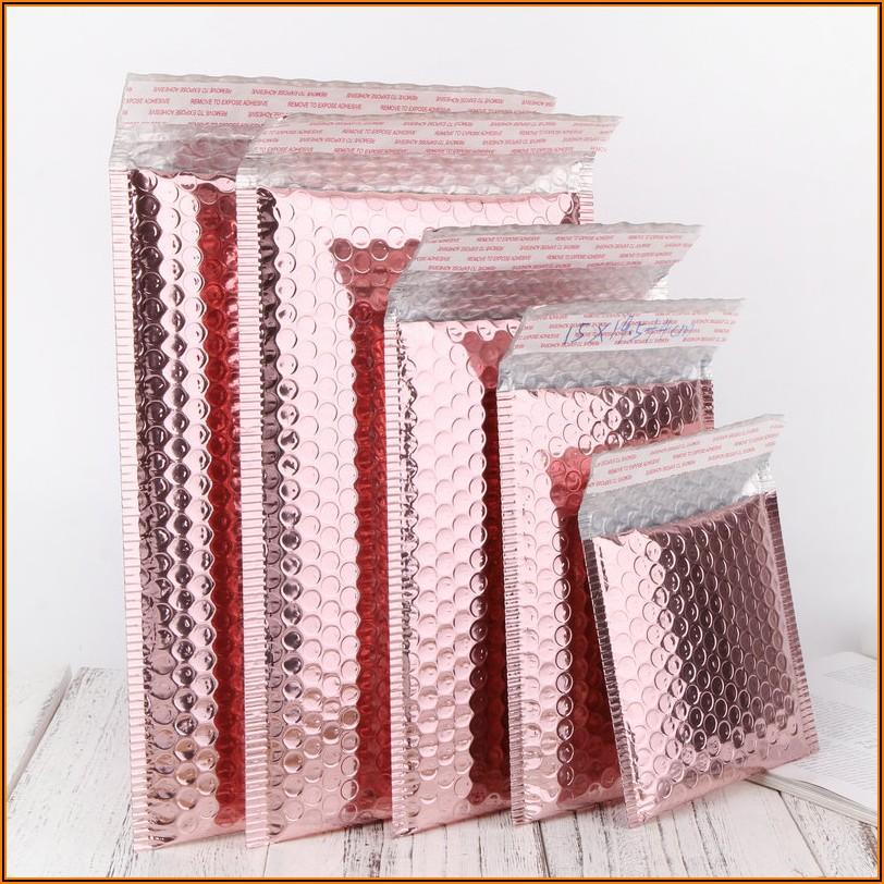 Rose Gold Glitter Envelopes