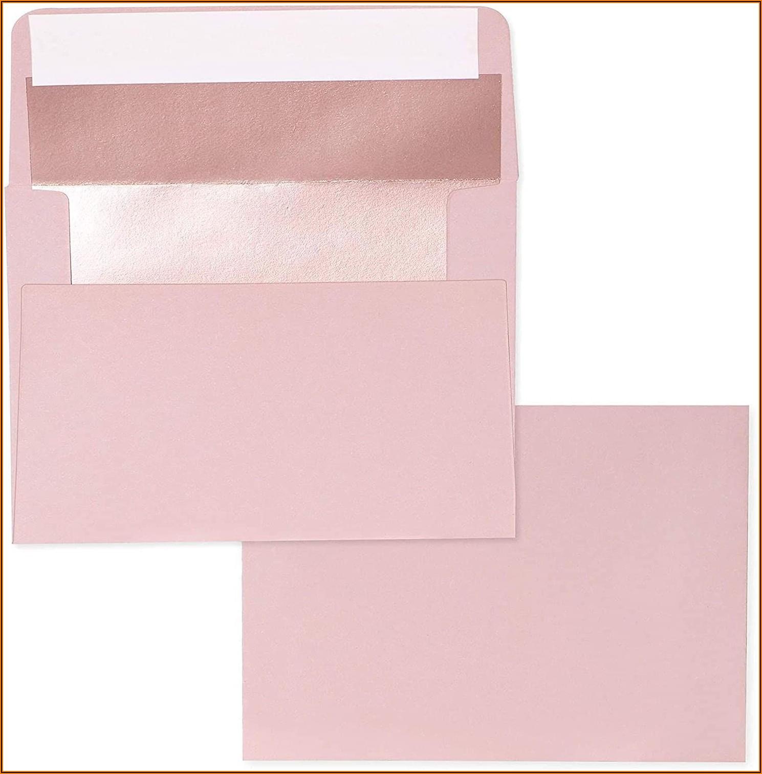 Rose Gold Lined Envelopes