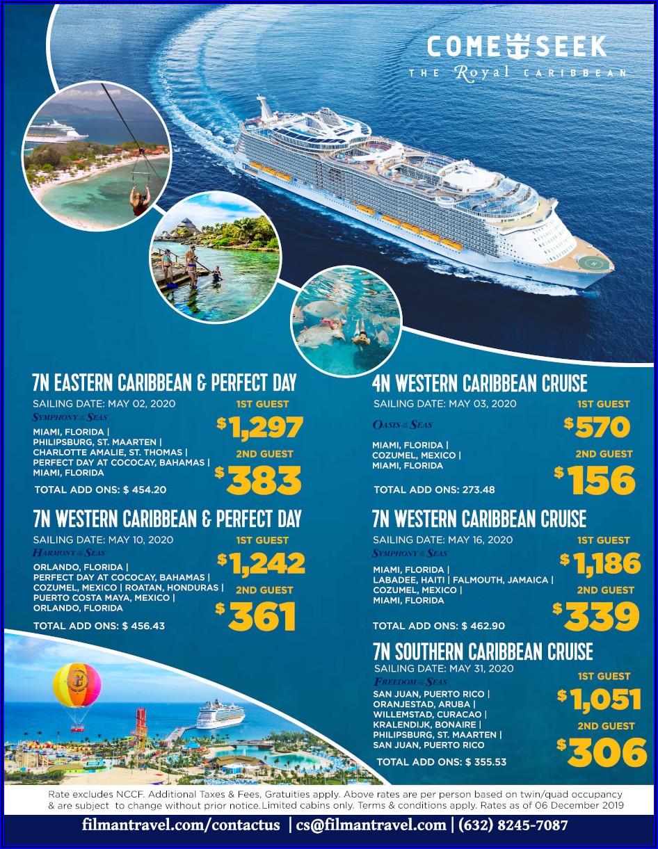 Royal Caribbean Cruises Brochure Order