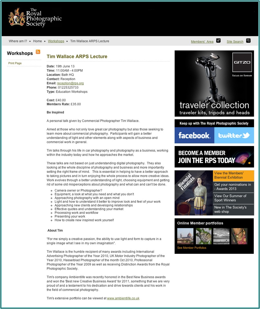 Royal Photographic Society Model Release Form