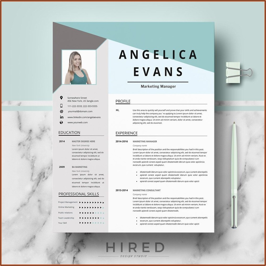 Sales Manager Resume Template Word