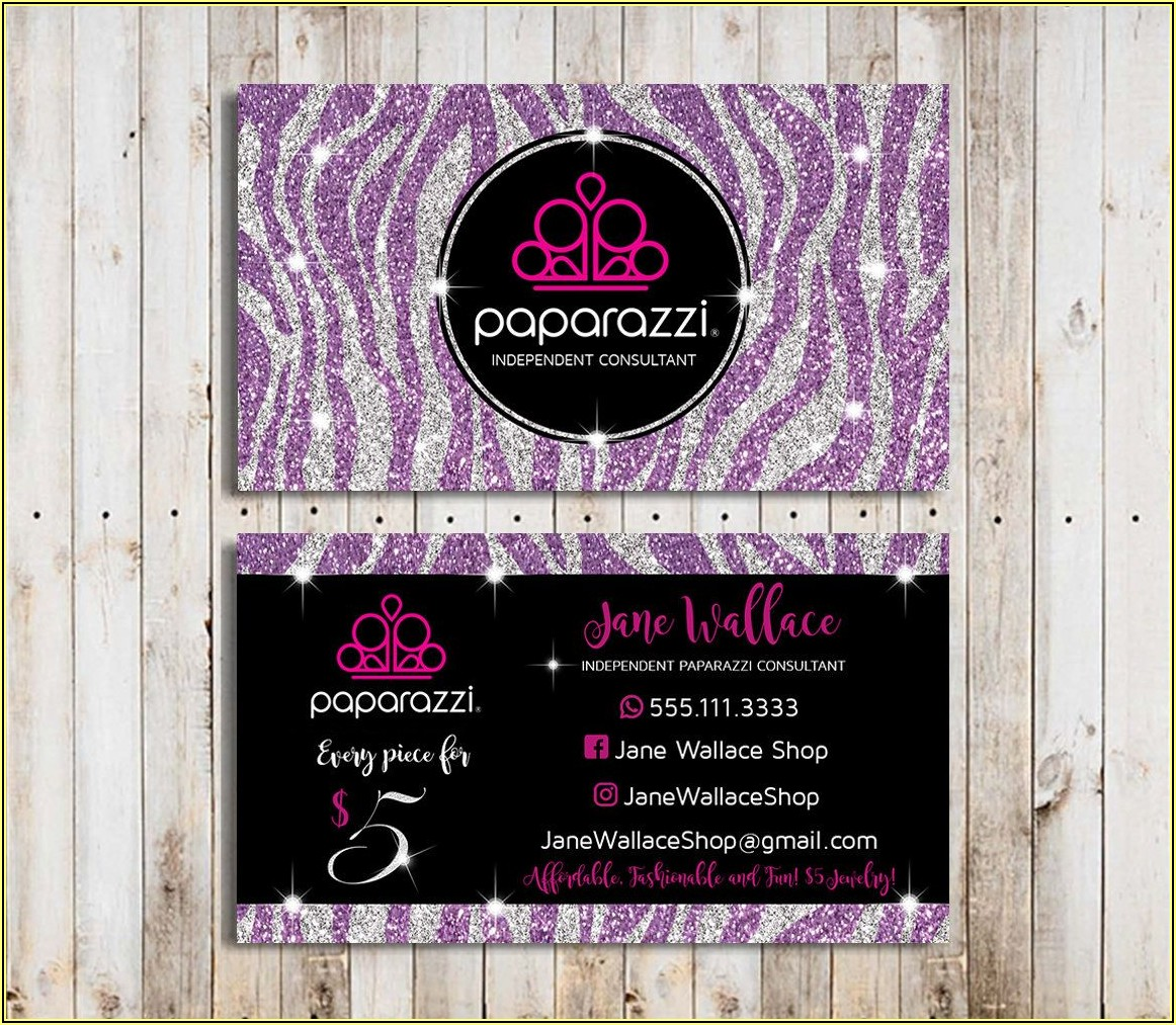 Sample Business Cards For Paparazzi Jewelry