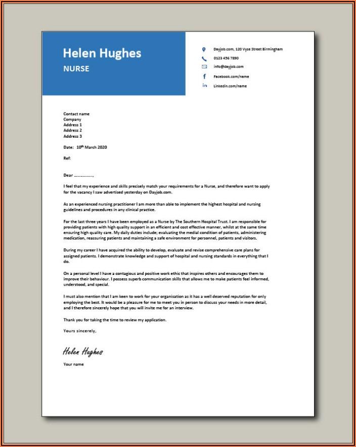 Sample Cover Letter For Resume Nurse Practitioner