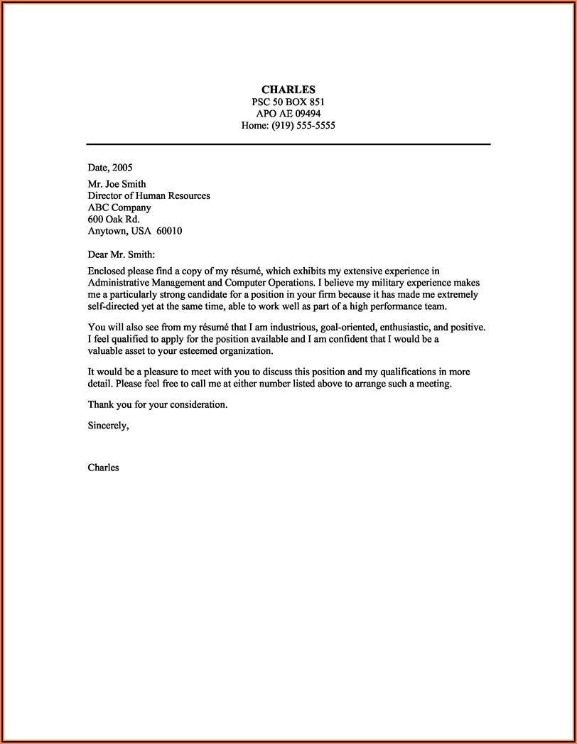 Sample Cover Letter For Resume Nursing