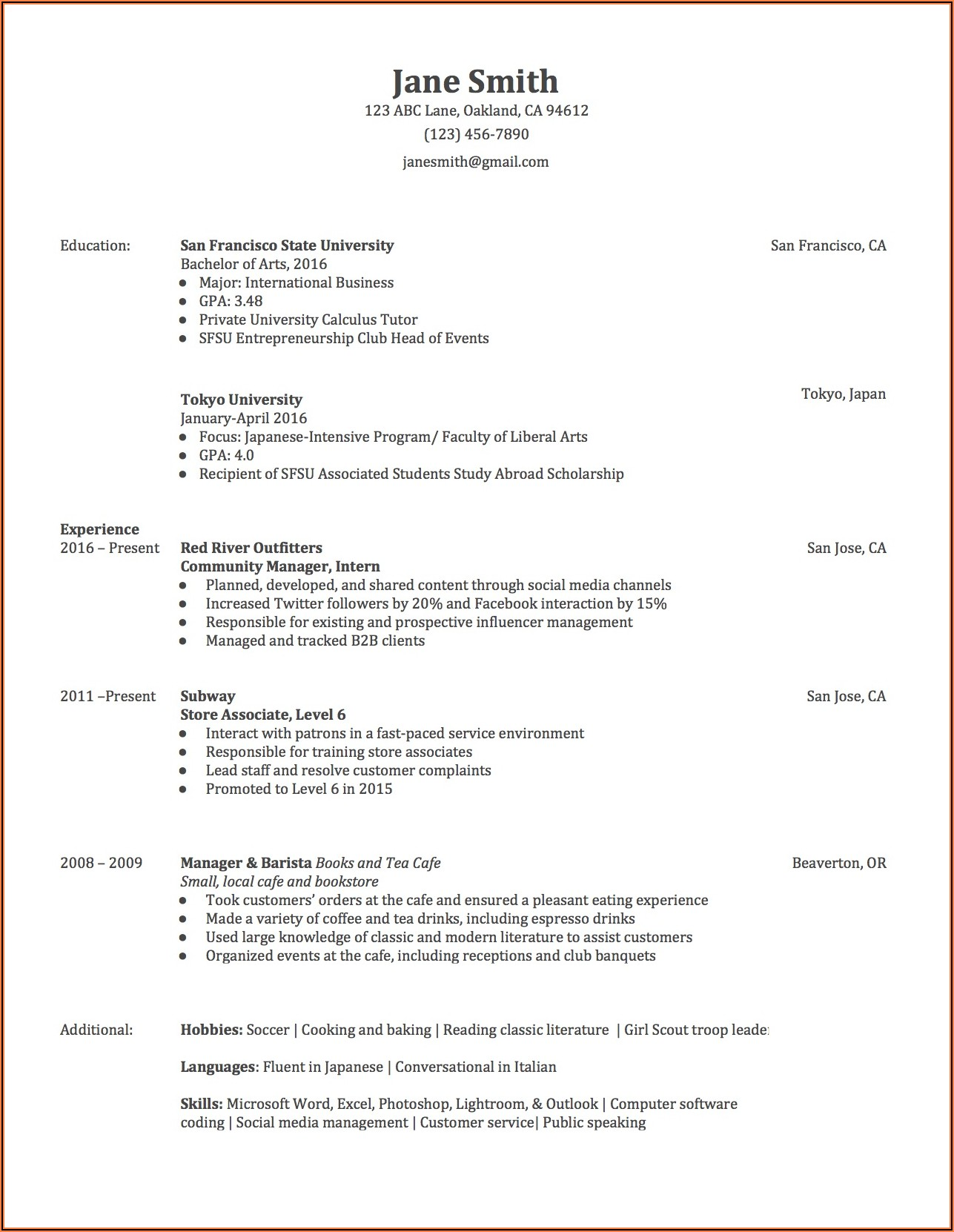 Sample Format Of Cover Letter For Resume