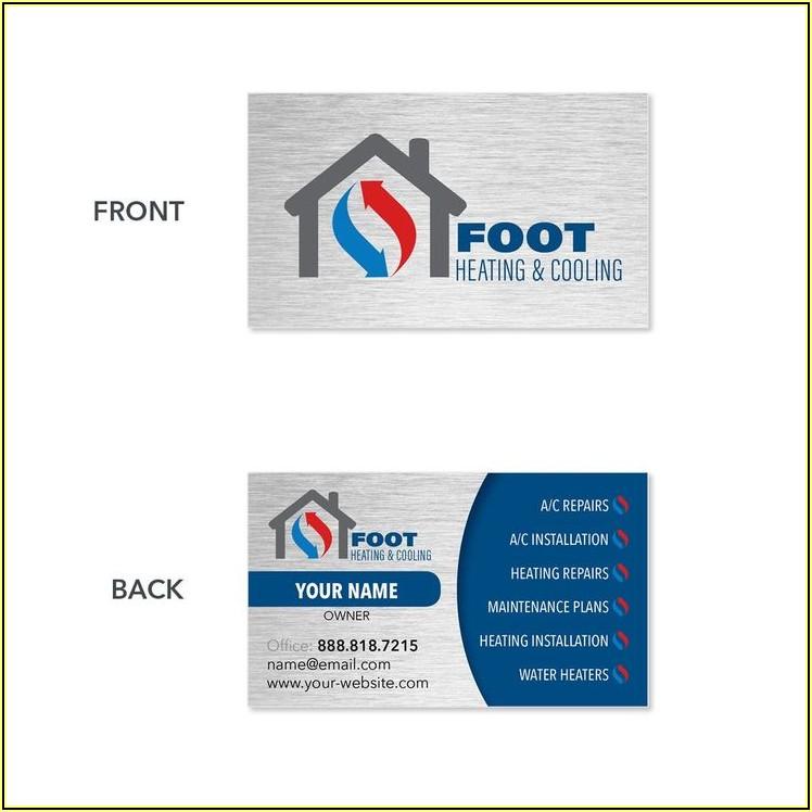 Sample Hvac Business Cards