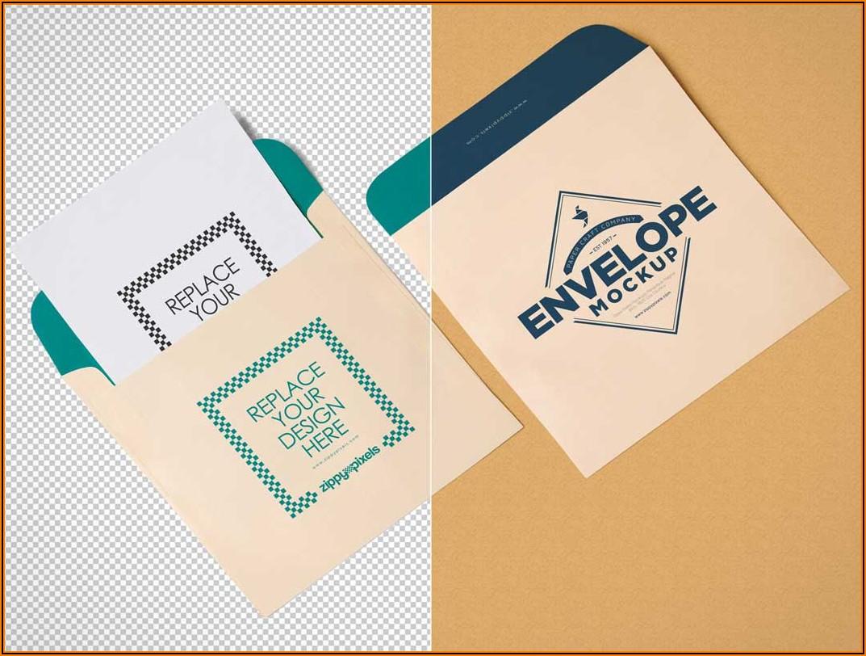 Square Envelope Mockup Free