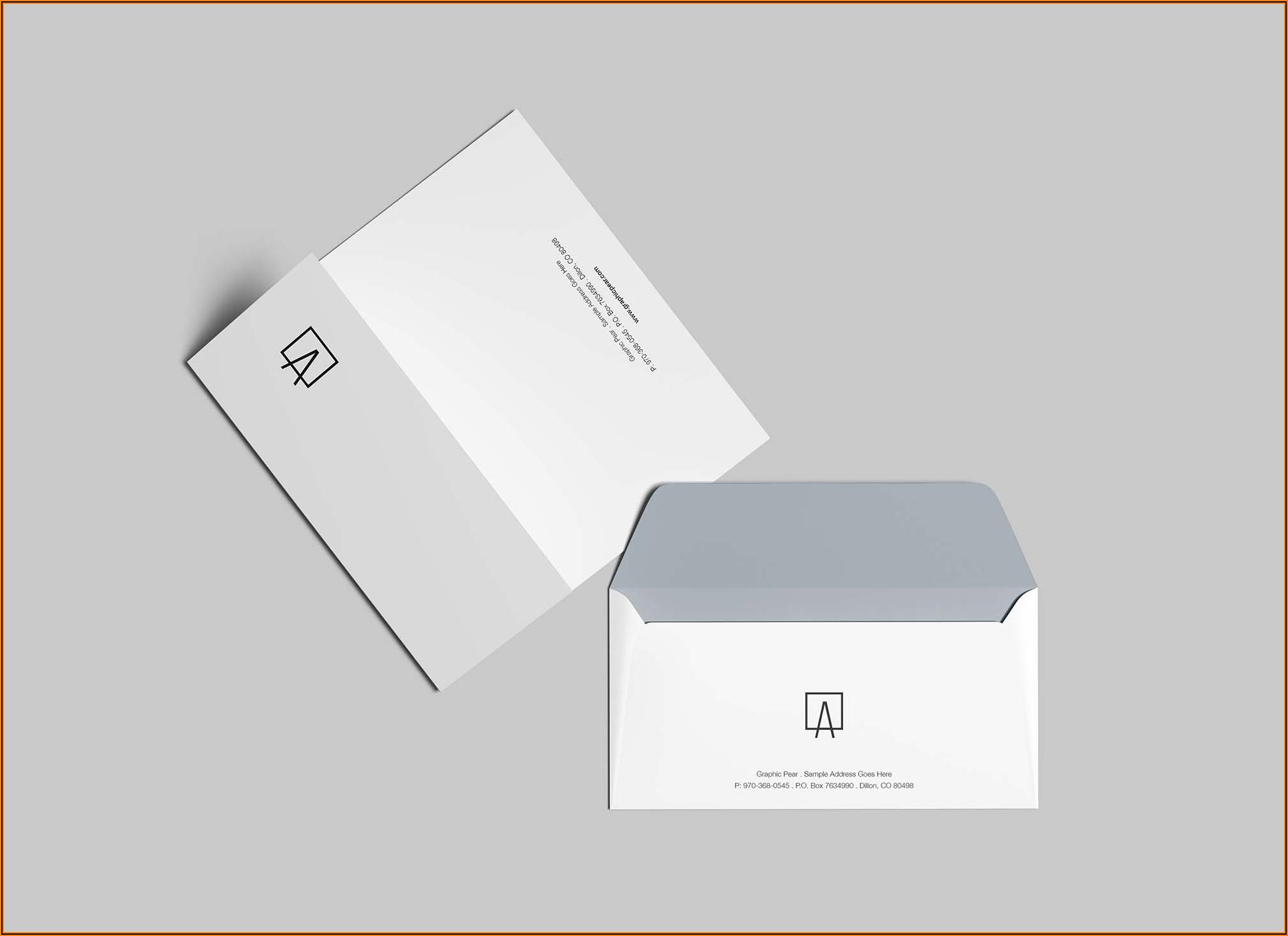 Standard Dl Envelope Mockup Free