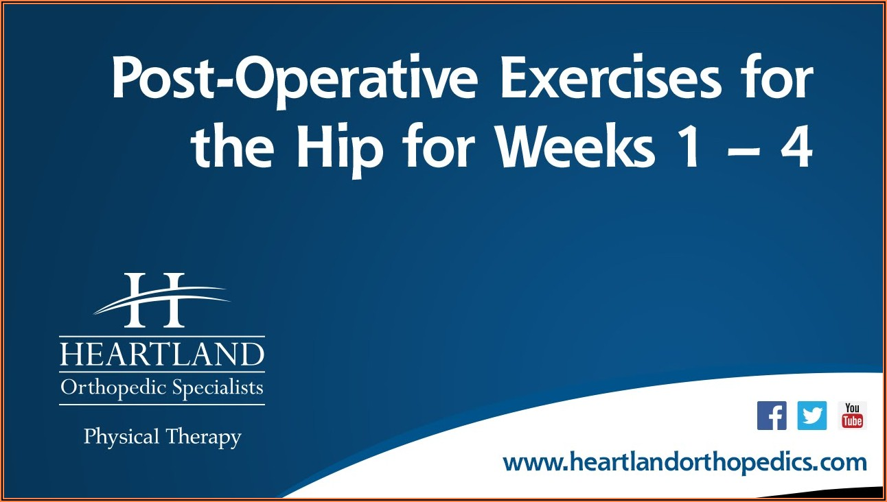 Total Hip Arthroplasty Recovery Timeline
