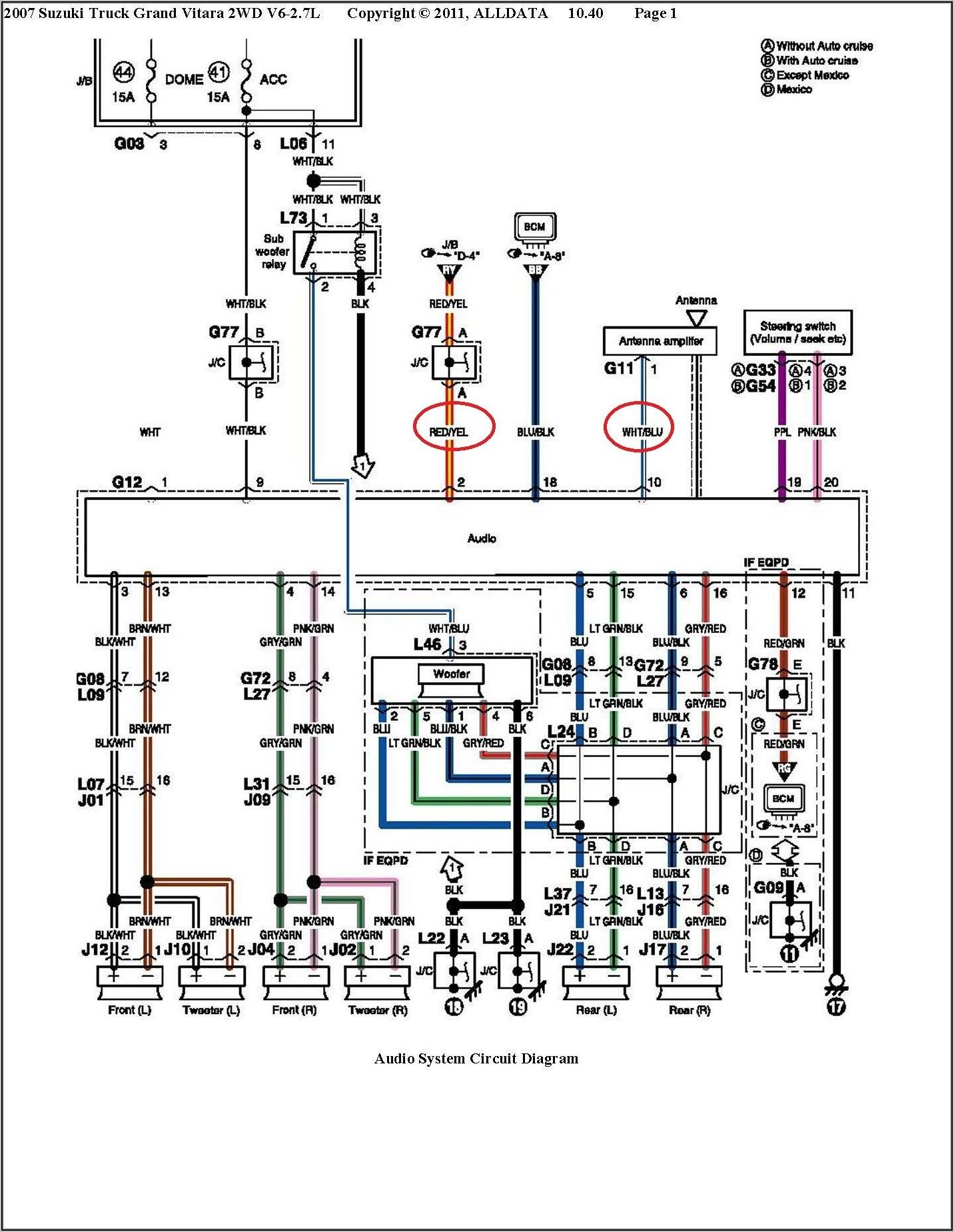 Toyota Car Stereo Wiring Diagram
