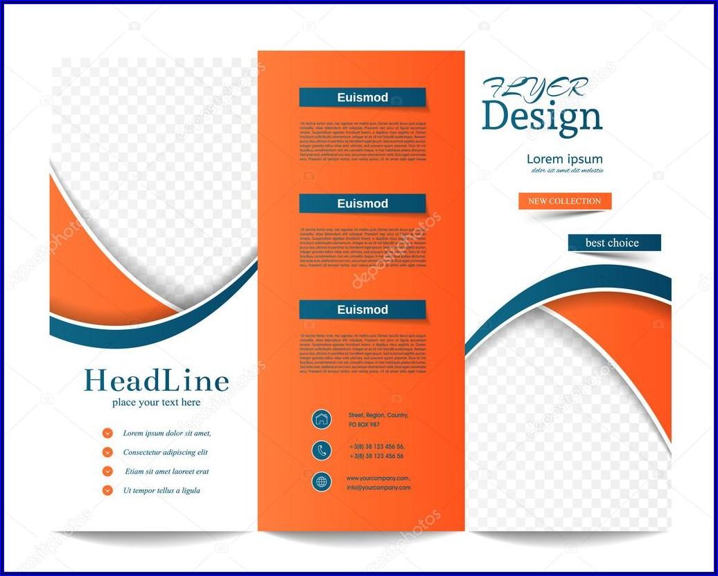 Tri Fold Brochure Background Design Free Download