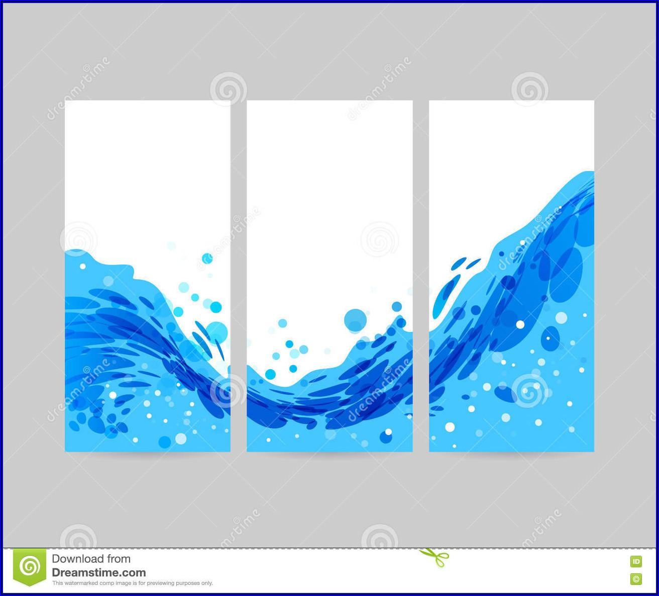 Tri Fold Brochure Background Design Vector Free Download