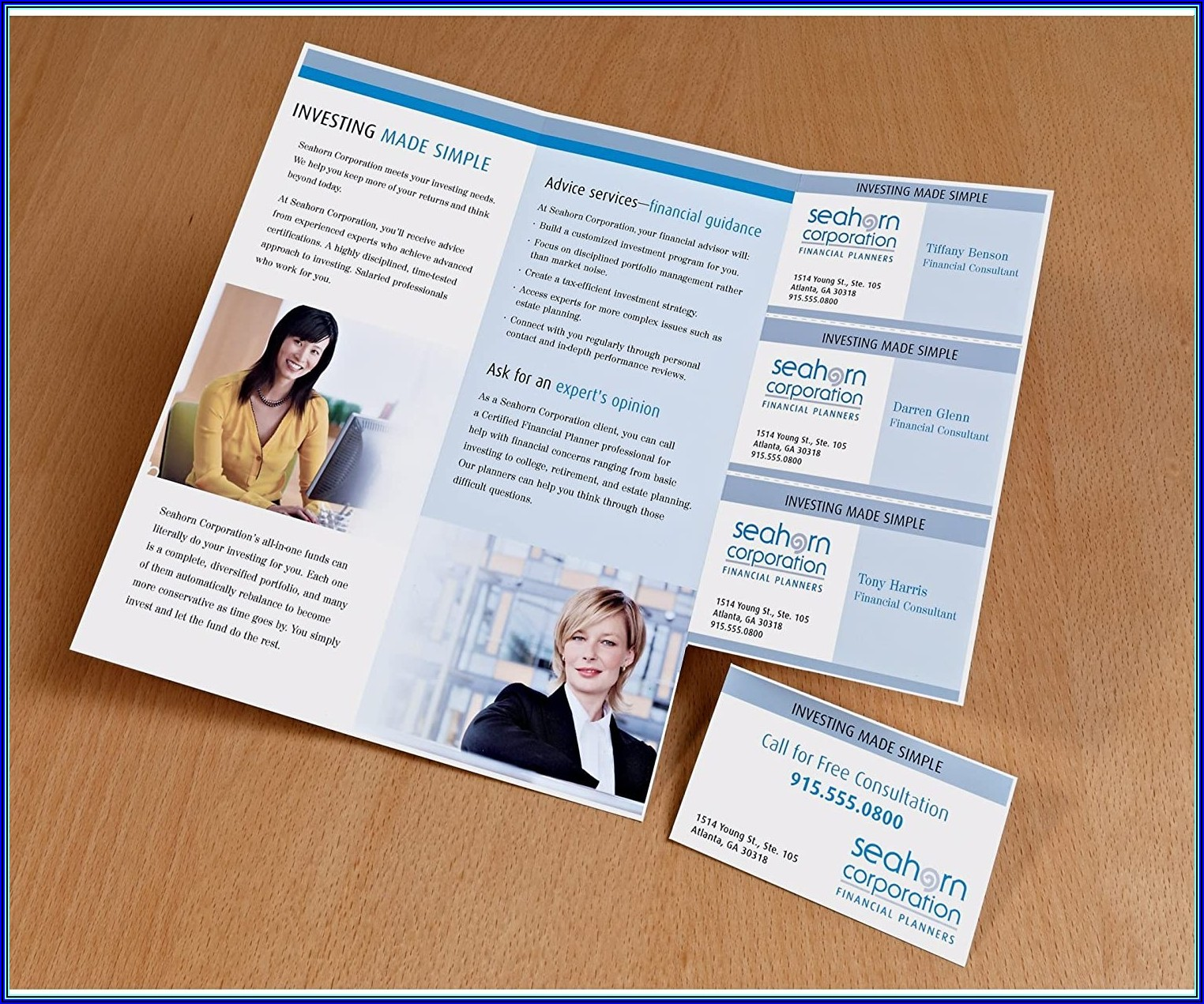 Tri Fold Brochure Paper With Tear Off