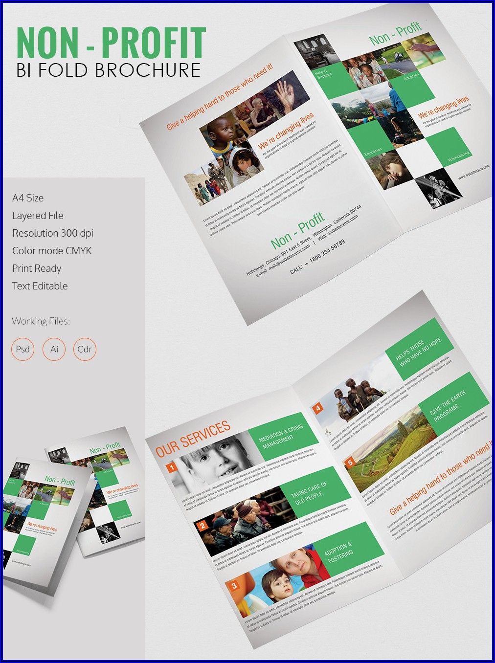 Two Fold Brochure Templates Free Download
