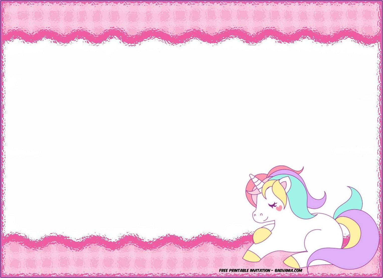 Unicorn Birthday Invitation Free Template