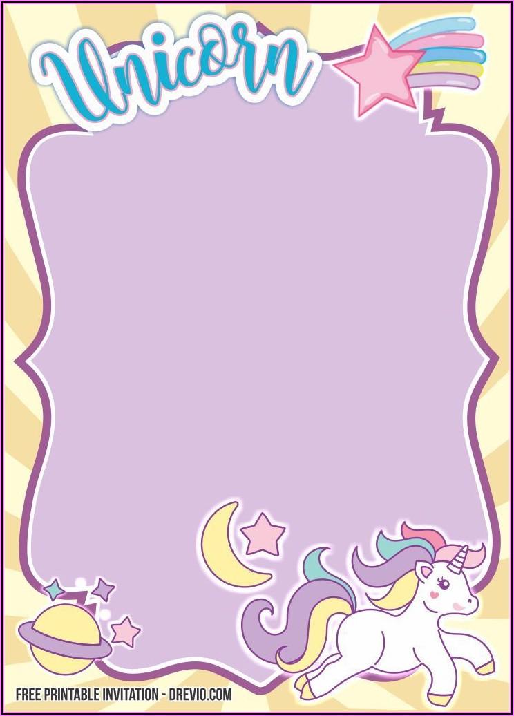 Unicorn Free Invitation Templates