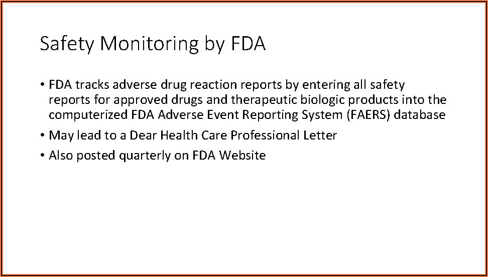 Us Fda Adverse Event Reporting Timelines