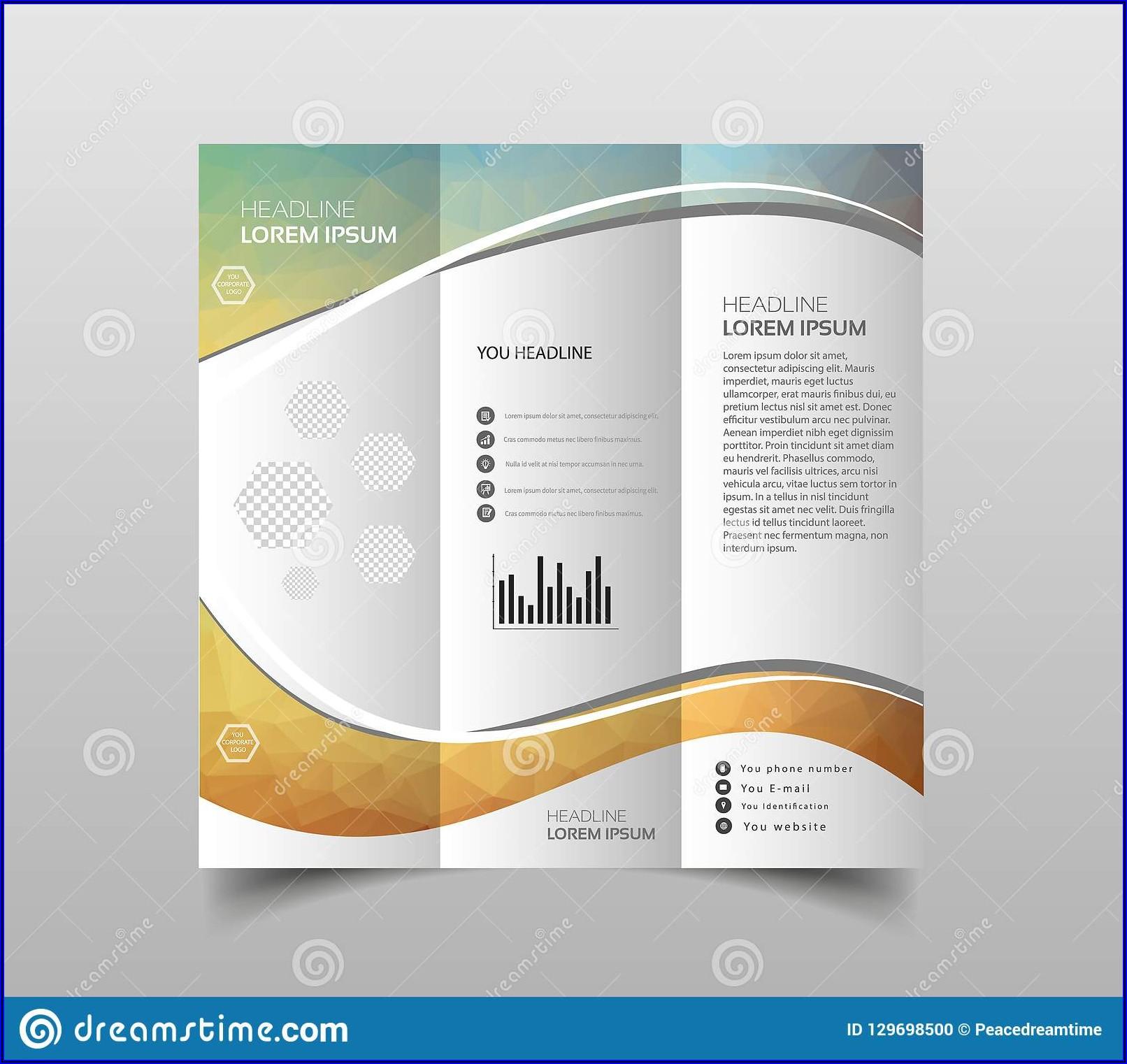 Vector Tri Fold Brochure Background Design