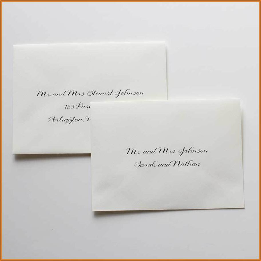 Wedding Invitation Inner Envelope Etiquette