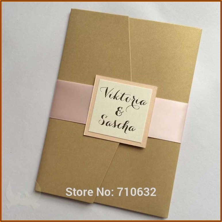 Wedding Invitation Pocket Envelopes