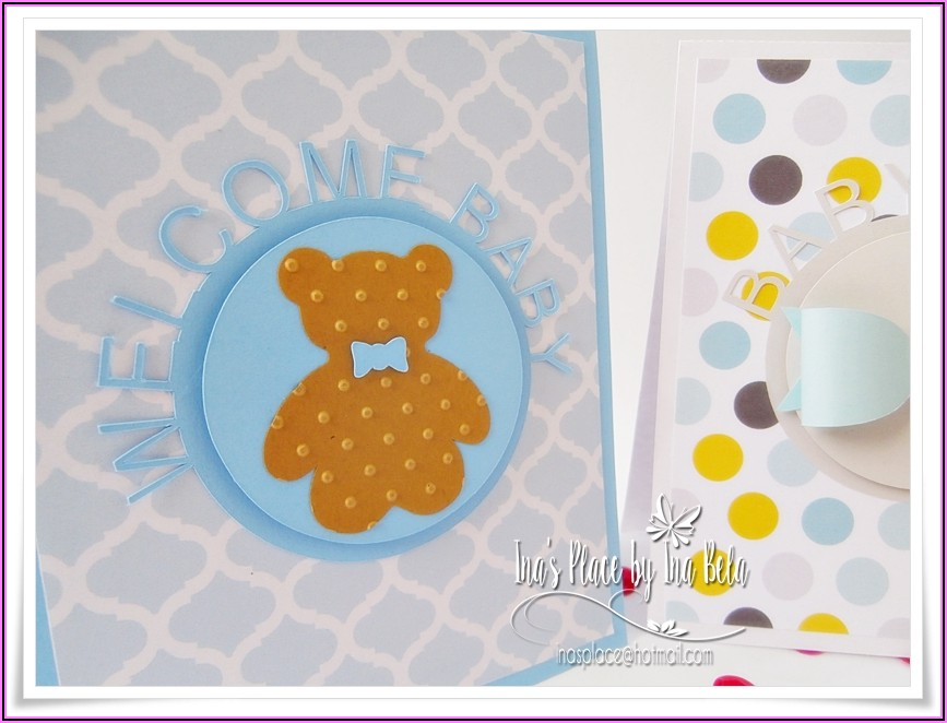 Welcome Baby Boy Party Invitations