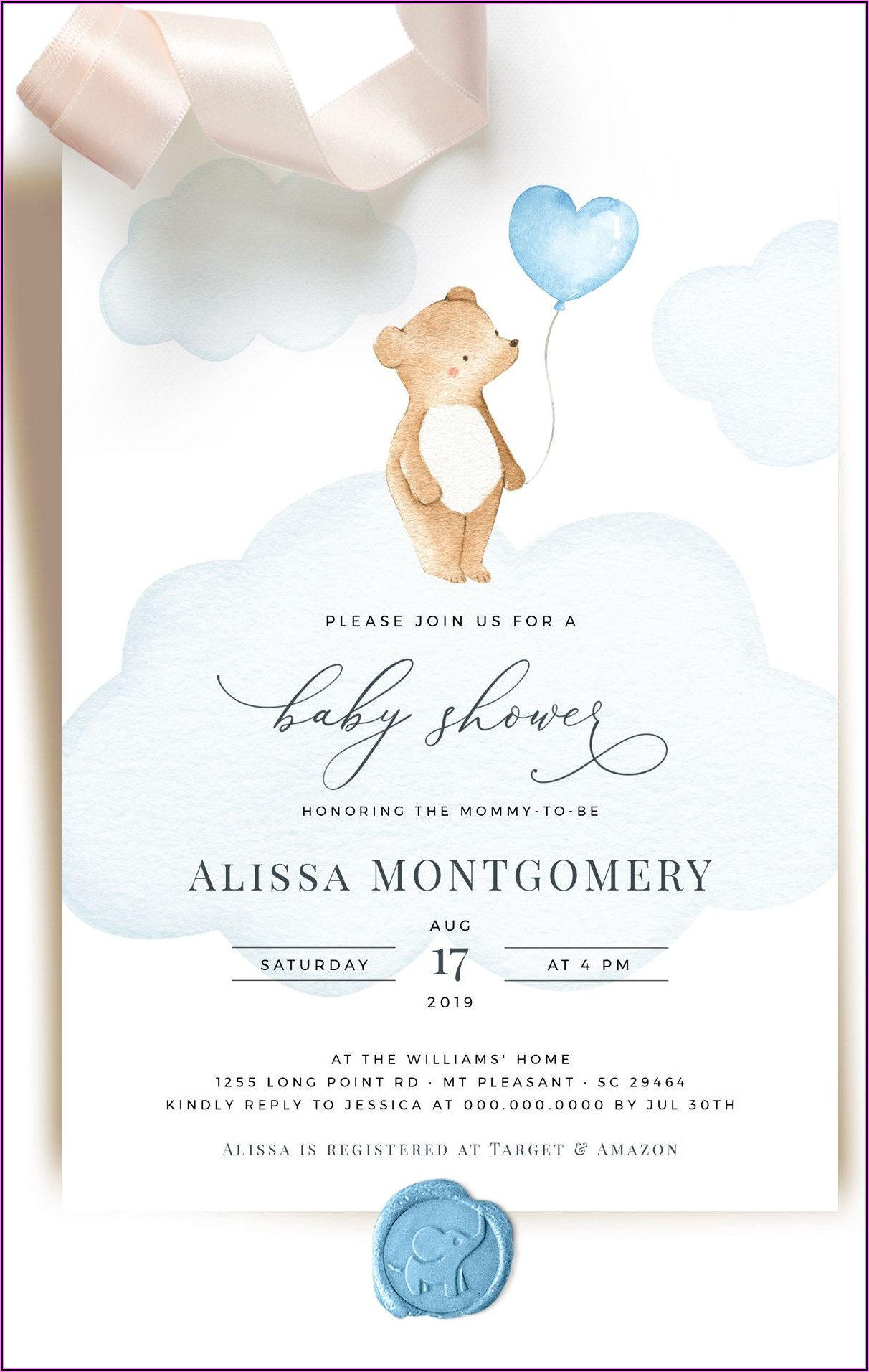 Welcome Home Baby Boy Invitations