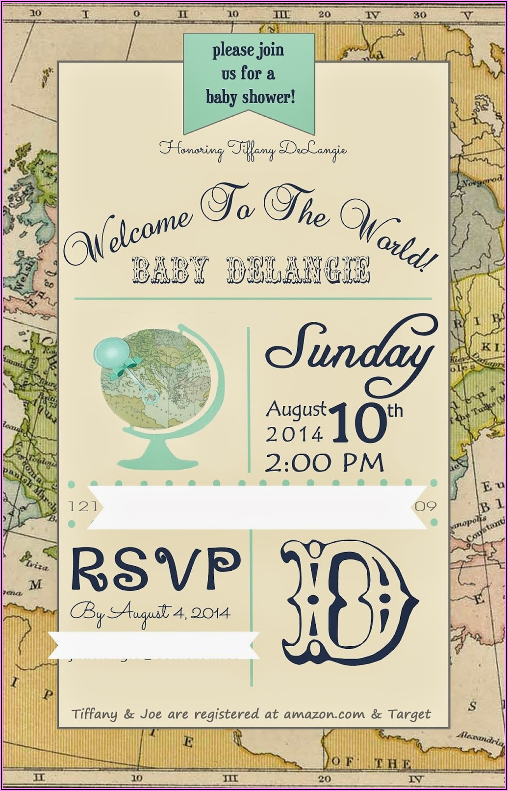 Welcome To The World Baby Boy Invitations